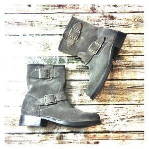 Frye Buckle Short Boots